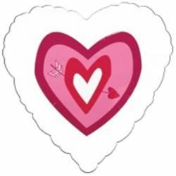 Valentijn Helium Ballon Hart met Pijl
